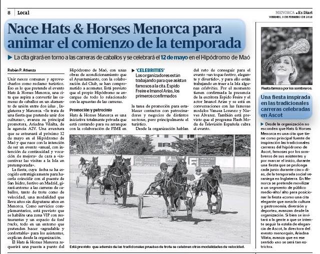 HATS & HORSES FEB 2018