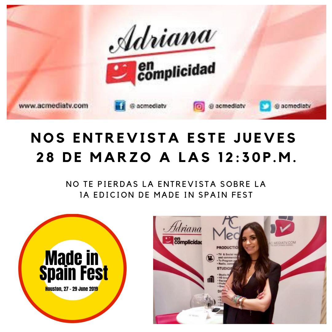entrevista ADRIANA EN COMPLICIDAD