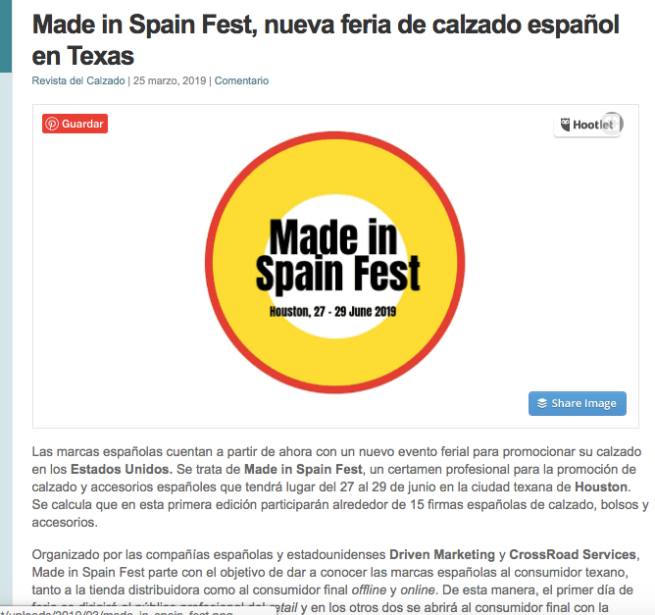 MADE IN SPAIN FEST REV CALZADO ART